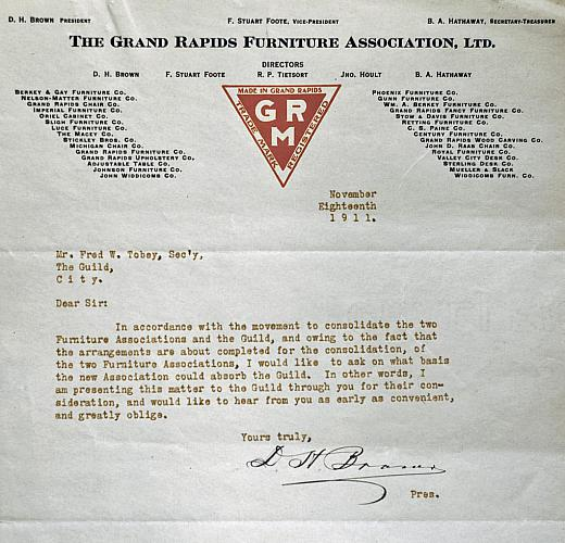 Grand Rapids Furniture Association Letter