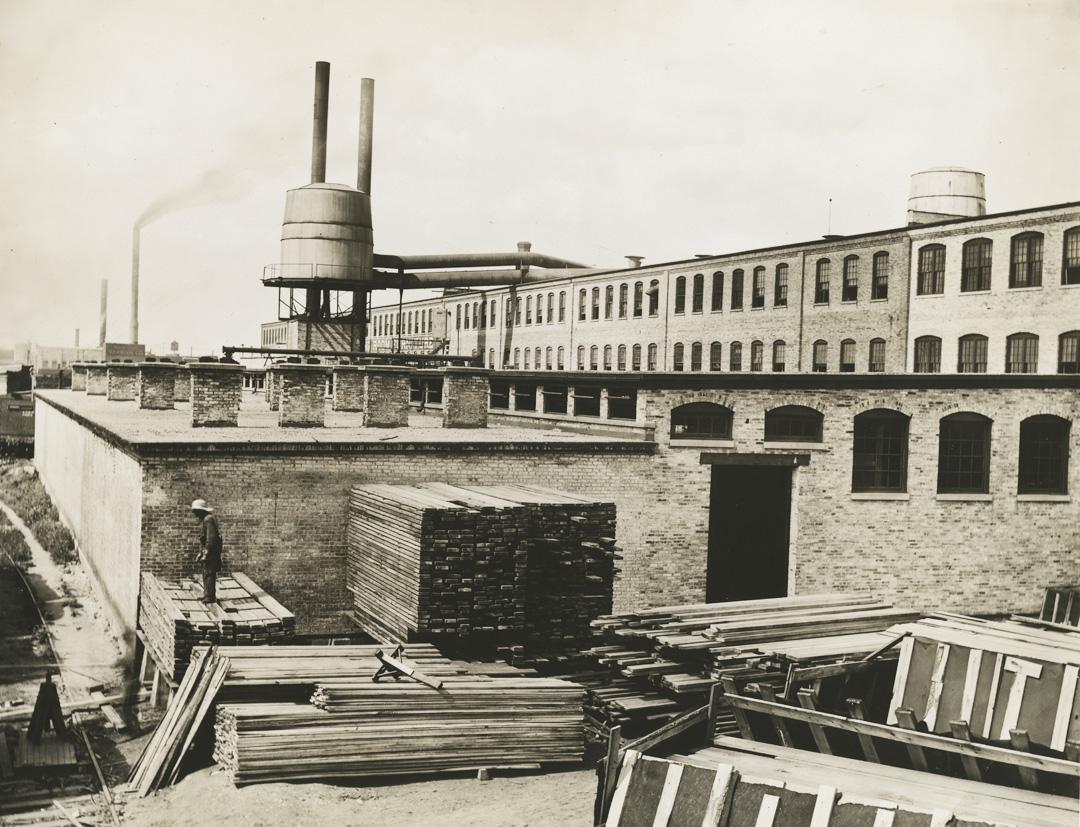 Looking North At The Rear Of The Luce Furniture Factory.