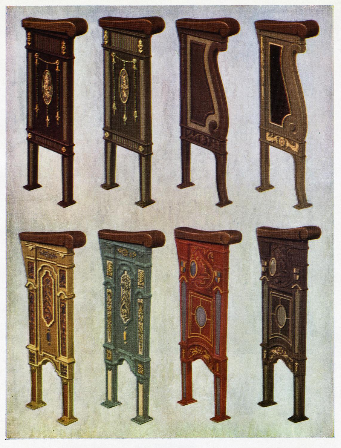 Irwin Seating Co. Catalog, Theater Seat End Panels