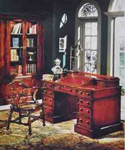 first was a line of 30 occasional tables from there the line grew to include occasional pieces for the living room library
