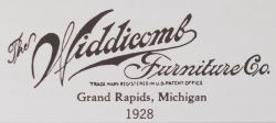 ... And/or A Burn Mark On The Back Of The Headboard With U201cWIDDICOMB/ FURNITURE CO./GRAND RAPIDS/MICHIGANu201d. The Company Used A Distinctive,  Cursive Type Style ...
